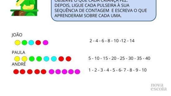 O jogo das cores, trabalhando com diversas sequências