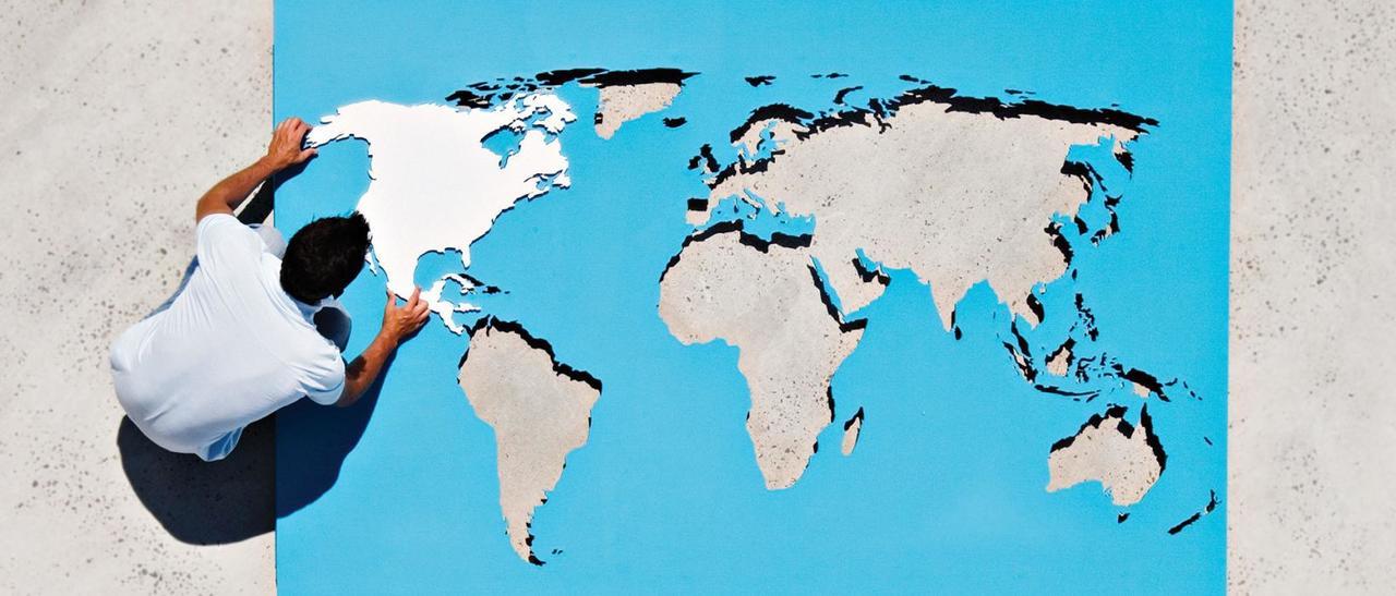 O mapa-múndi visto de outro ângulo