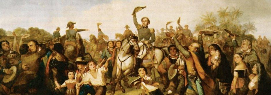 Pintura retrata Dom Pedro proclamando a Independência do Brasil