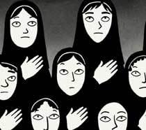 Animação Persépolis conta a história real de uma iraniana que vivenciou a Revolução Islâmica. Foto: Divulgação