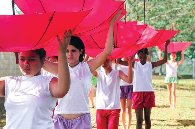 As cenas e os exercícios que os alunos mais gostaram integraram a coreografia final. Manuela Novais