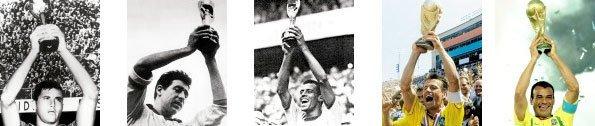 Copas do mundo conquistadas pelo Brasil. Fotos: Arquivo DEDOC/Editora Abril