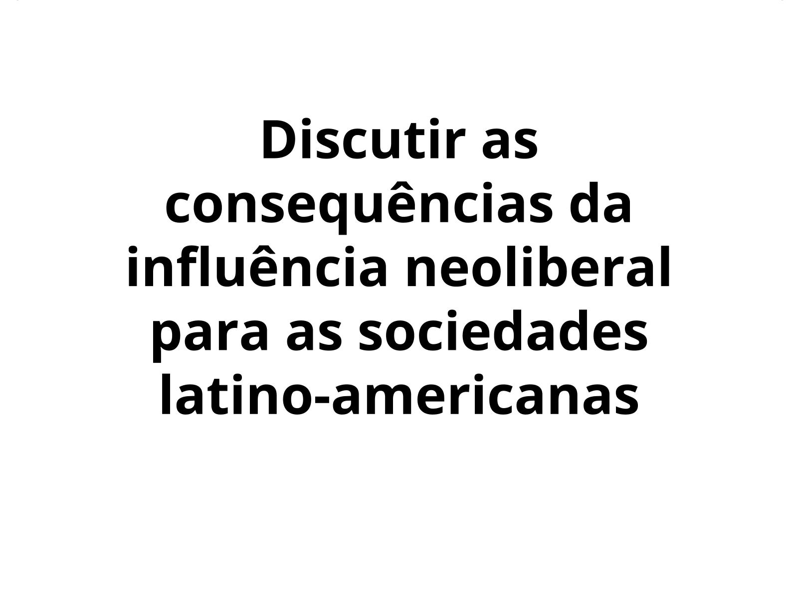 O neoliberalismo e a abertura comercial na América Latina no pós-guerra fria