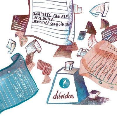 As muitas questões da classe sobre Aids. Ilustração: Elisa Carareto