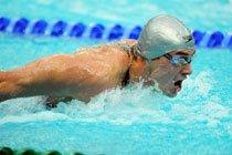 Nadador durante competição no Jogos de Beijim 2008. Foto: Alexandre Battibugli