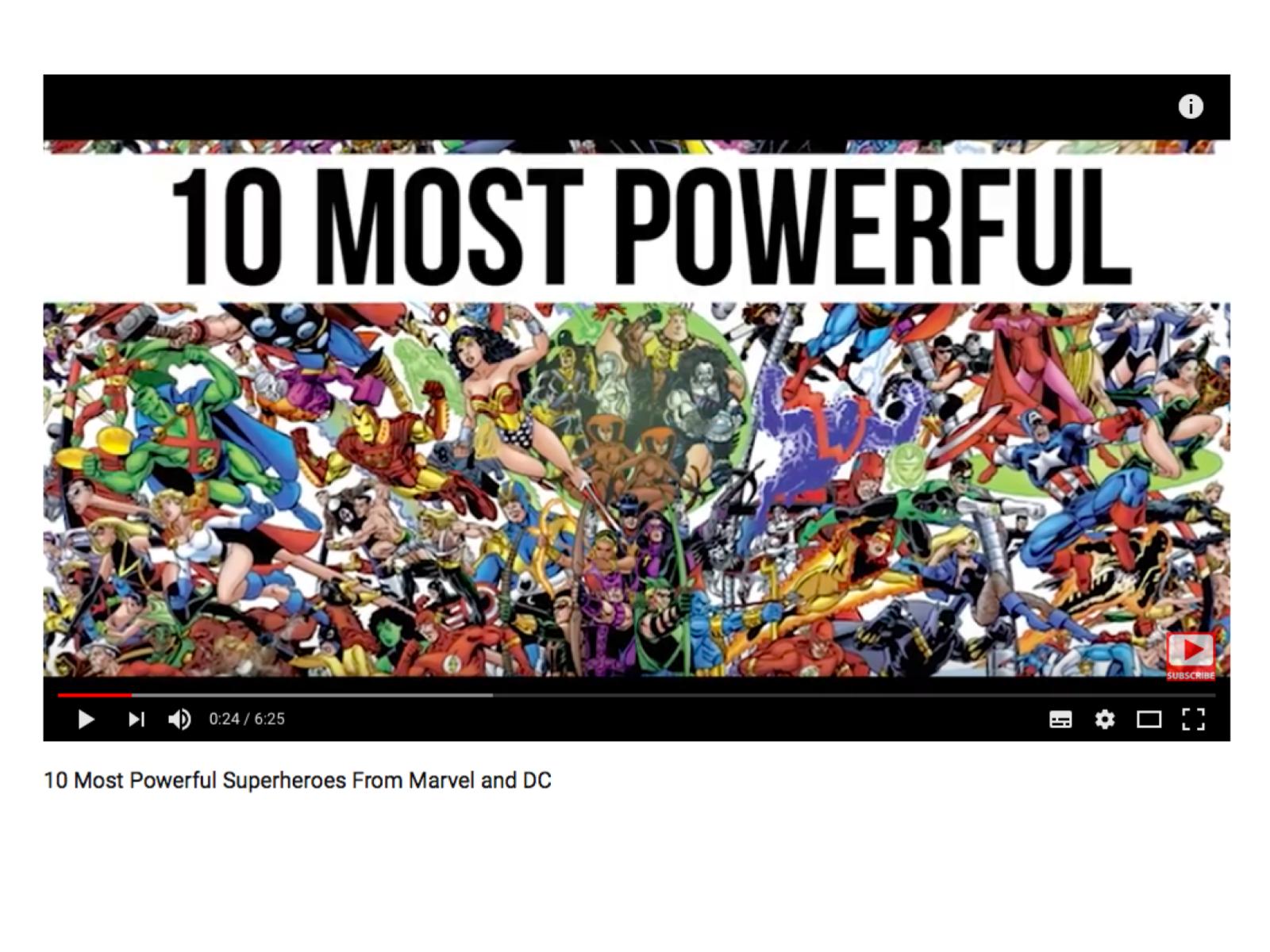 Superlativos com super-heróis
