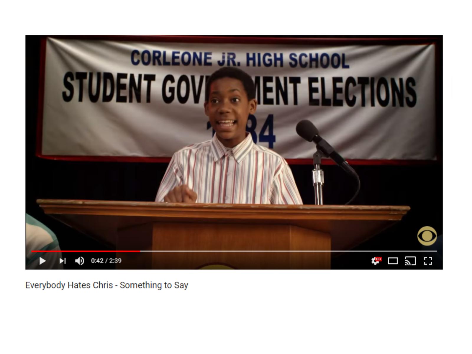 Promessas e planos em um discurso para eleições escolares